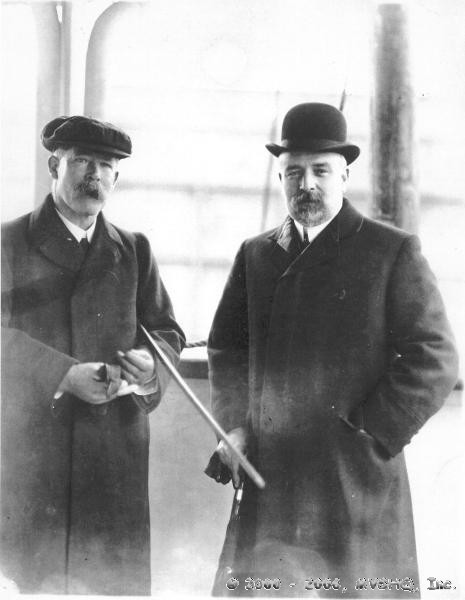 Capt. Inman Sealby (L) with