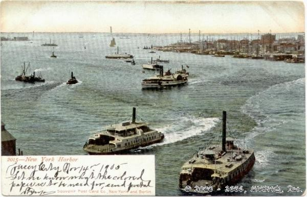 New York Harbor 1905