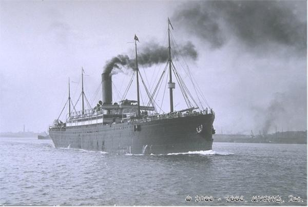 Republic with White Star Line stack
