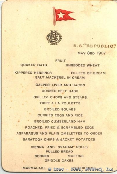 Republic Menu