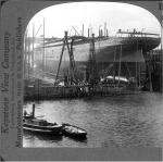 Harland and Wolff Shipyard, Queen's Island, Belfast, Steroview circa 1903 (?).